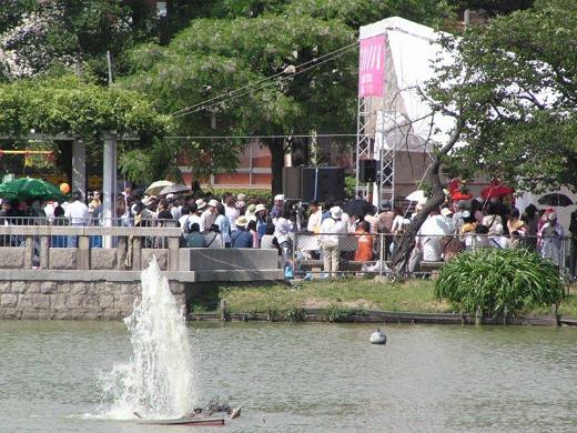 1 万台池公園で催される帝塚山音楽祭