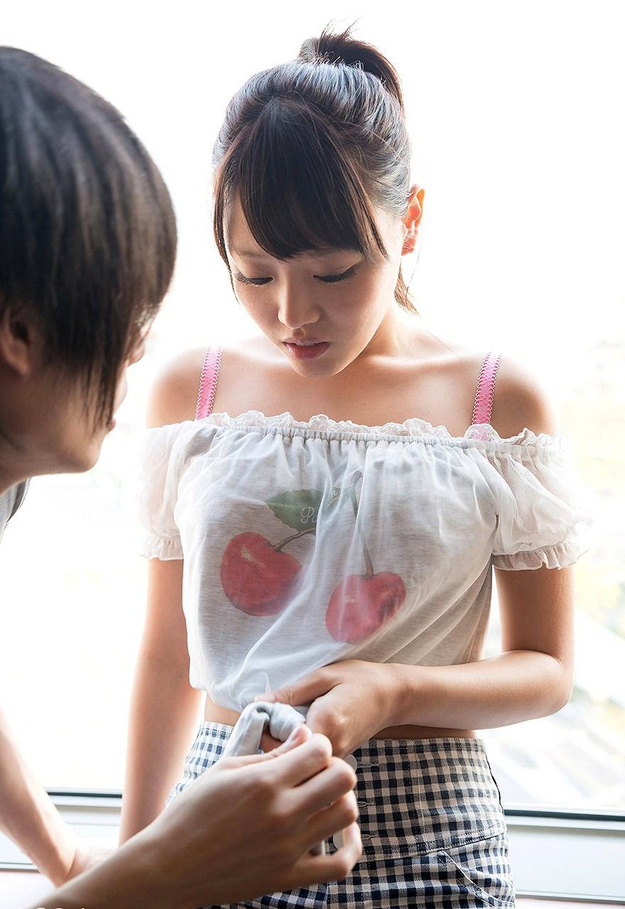 浜崎真緒(はまさきまお) ロリ顔ポニーテール、色白柔らかそうなおっぱいに包まれるセックスAV女優画像 143枚 No.24