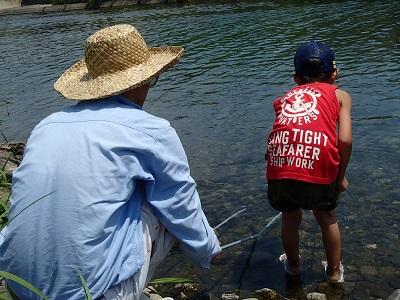 150808 南部川で魚探し