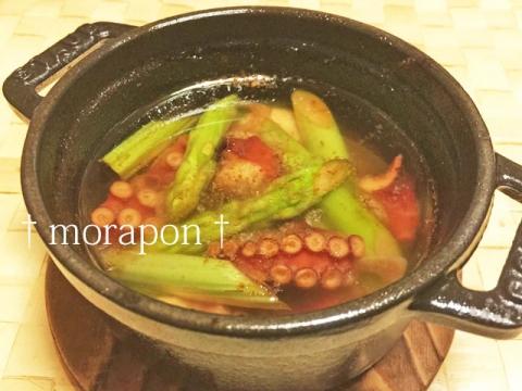 150810 蛸のアヒージョと夏野菜のパスタ-1