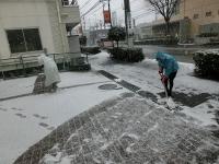 スタッフMさんとKチーフで雪かき開始!