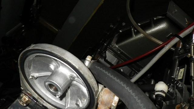 Fuel Felter交換、ヤンマー6CX-AS