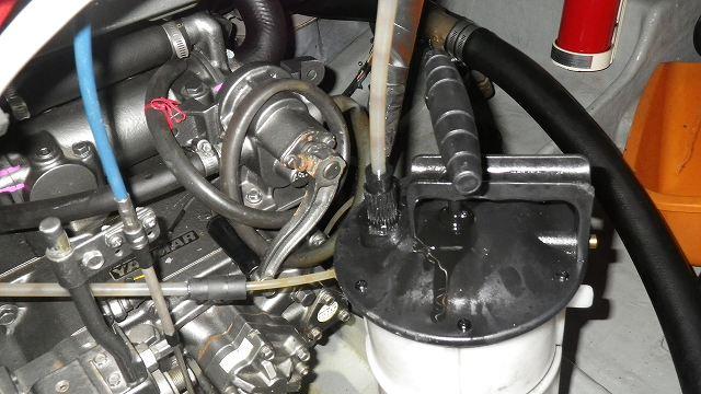 ヤンマー6CX-AS, 減速機OIL交換作業