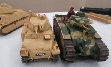TAMIYA1/35 ソミュアS35「テストショット製作体験会」B1bis フランス陸軍戦車  「静岡AFVの会」2015年 静岡ホビースクエア