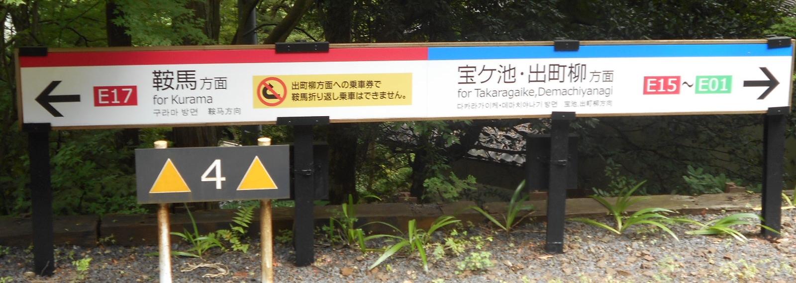 貴船口駅標識