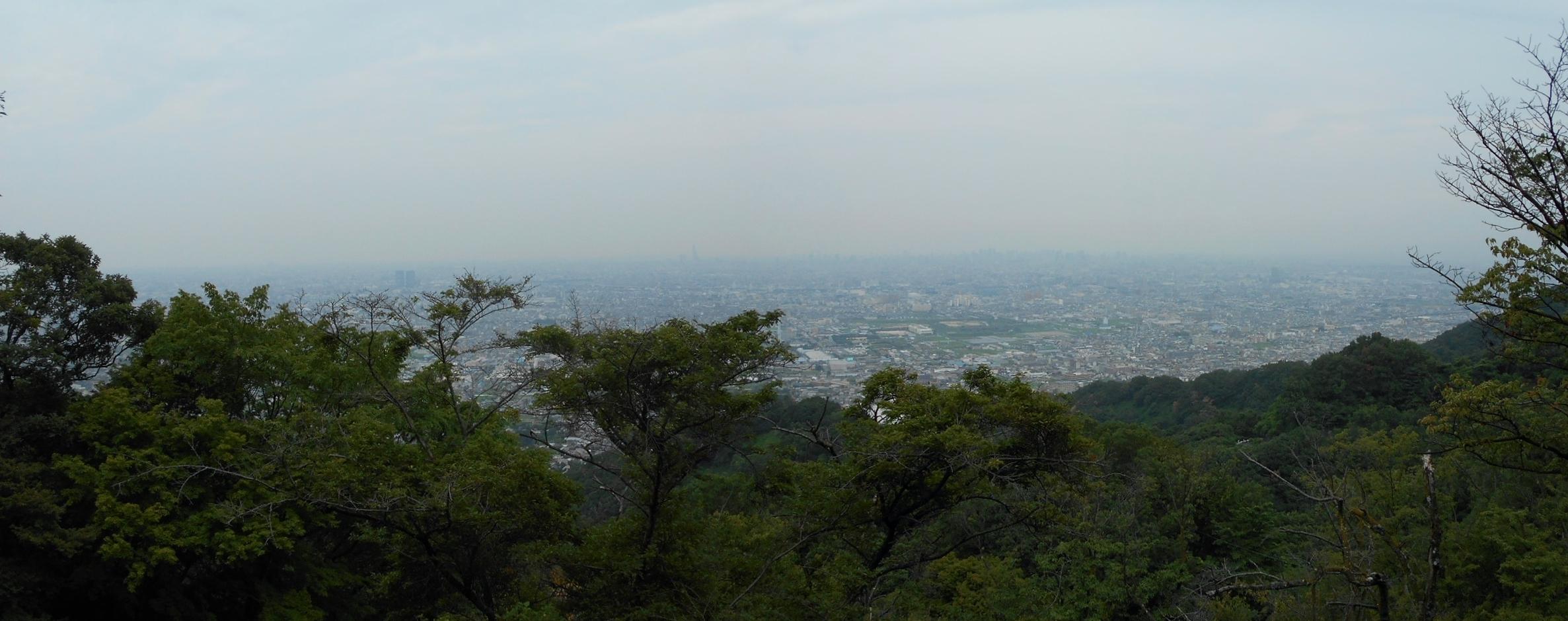 水呑地蔵から大阪のパノラマ