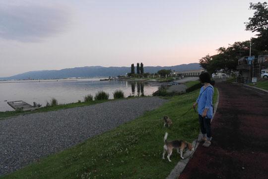 106諏訪湖湖畔散歩