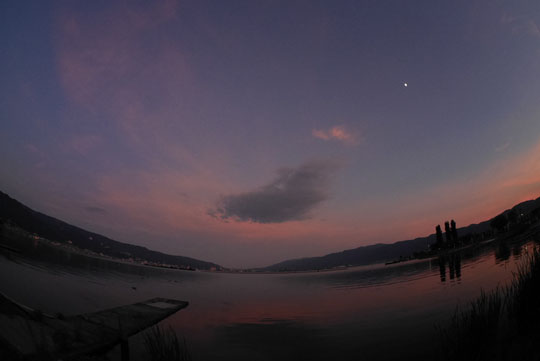 107諏訪湖夕焼け