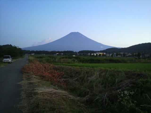 富士山ー夕方