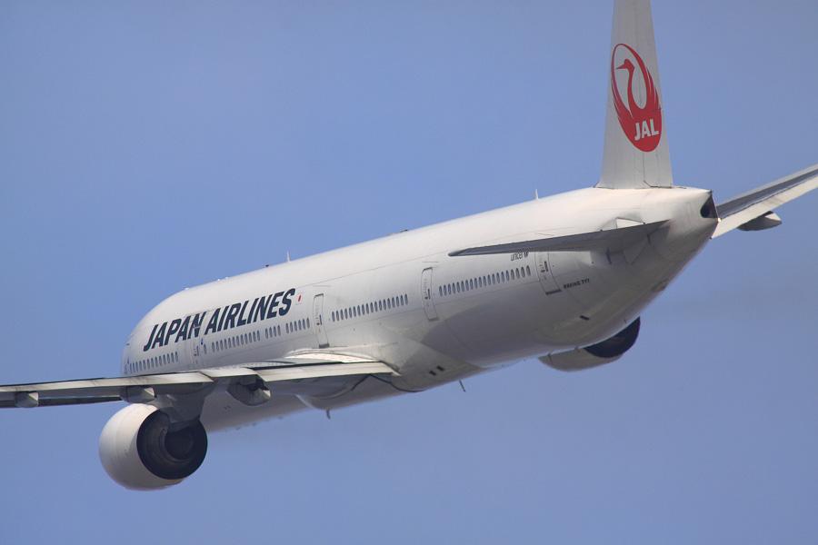 JAL B777-346 / JAL2081 (JA8943)@RWY14Rエンド・猪名川土手