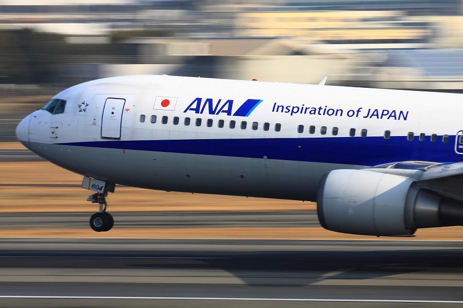 ANA B767-381ER / ANA732 (JA604A)@スカイランドHARADA