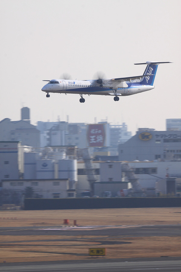 ANA WINGS DHC-8-402Q / ANA1634 (JA855A)@伊丹スカイパーク