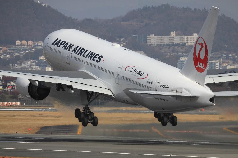 JAL B777-289 / JAL110 (JA007D)@伊丹スカイパーク