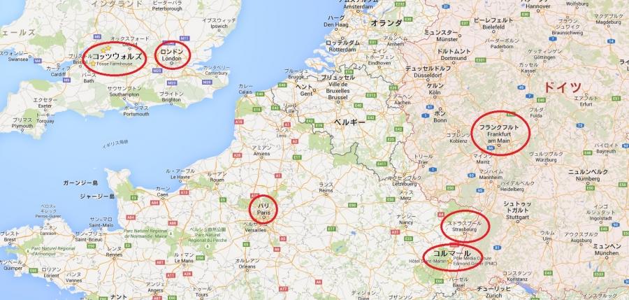 欧州旅行地図