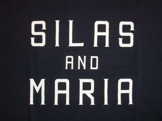 SILAS AND MARIA SS TEE NAVY