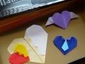 ナンフェア ハートの折り紙