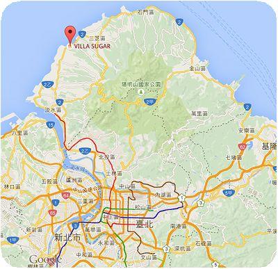 VILLA SUGAR地図