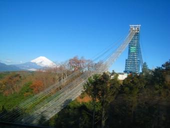 三島大吊り橋建設中