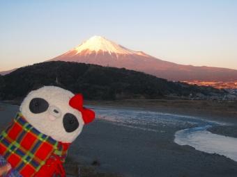 富士川楽座からの富士山