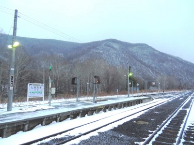 ハ~イ!オバ鉄です白滝駅と上白滝駅に降りました