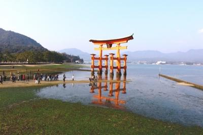 宮島干潮時の大鳥居