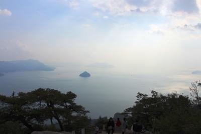 獅子岩展望台から望む瀬戸内海