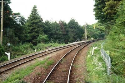 立野スイッチバック阿蘇駅に向かって前進