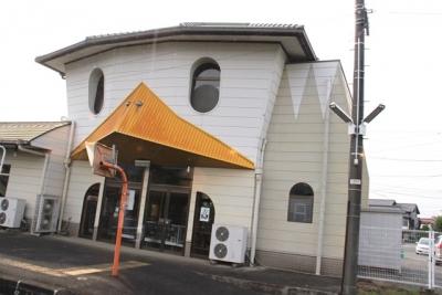 かっぱのデザインの田主丸駅