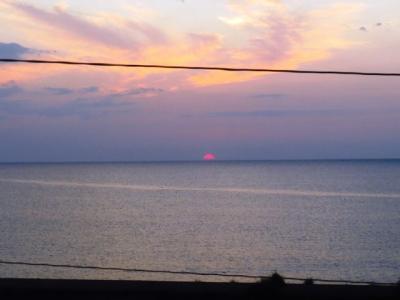 北斗星昇る朝日
