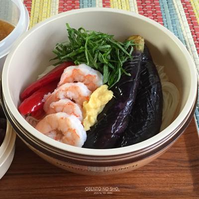 海老と揚げ茄子のおろし素麺弁当02