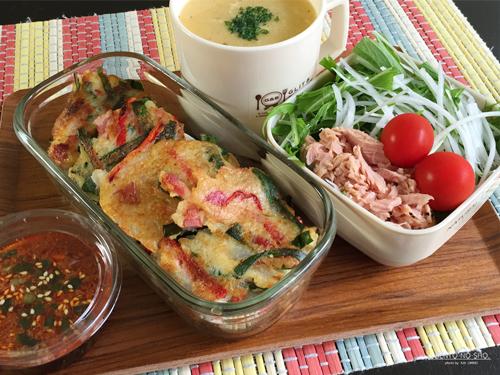 ベーコンと野菜のじゃが芋お焼き弁当01