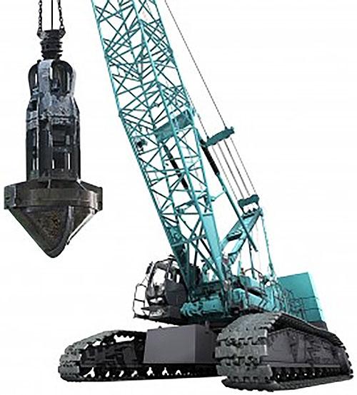 最大つり上げ能力150トンの巨大クレーン
