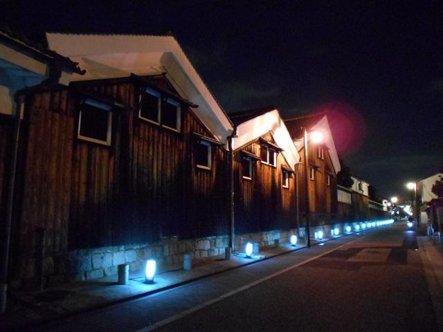 伏見酒造通り灯ろうライトアップ (1)