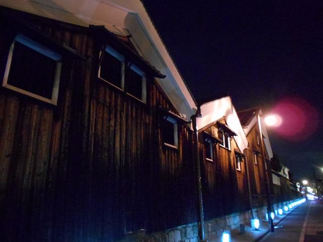 伏見酒造通り灯ろうライトアップ (2)