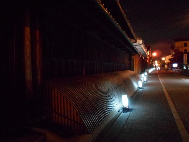 伏見酒造通り灯ろうライトアップ (5)