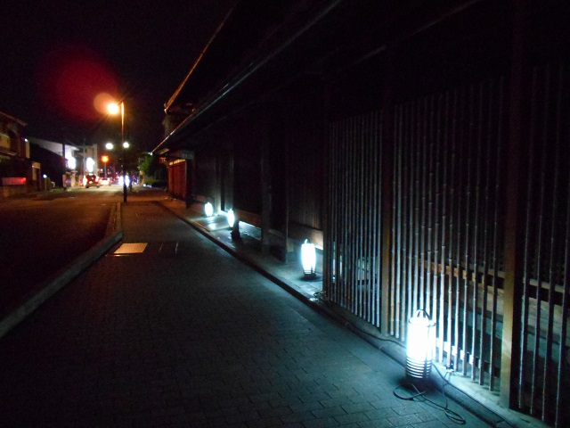 伏見酒造通り灯ろうライトアップ (10)