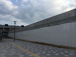 愛知環状鉄道 岡崎駅ホーム拡幅工事