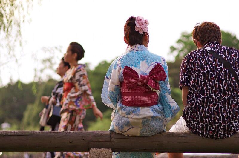 なら燈花会2015 浴衣の女性