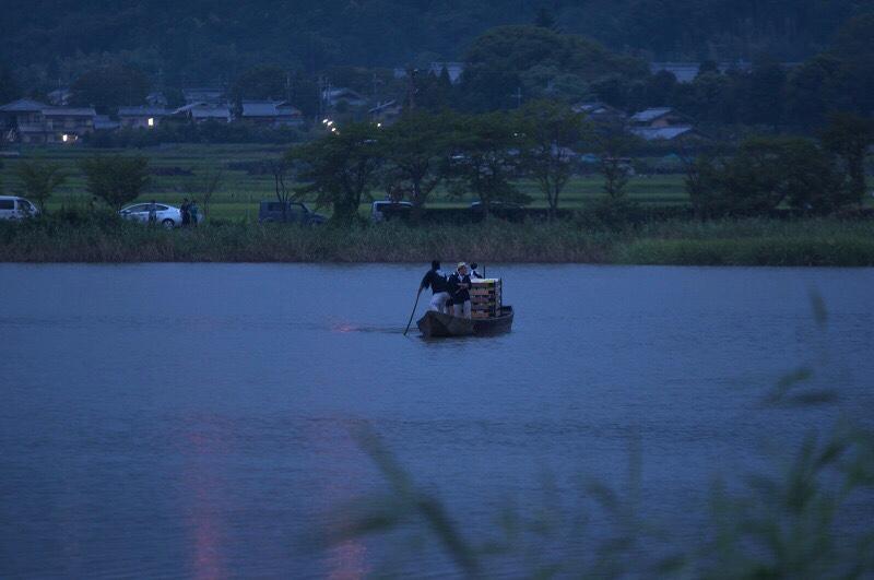 京都五山の送り火 鳥居形 灯篭流し 広沢池
