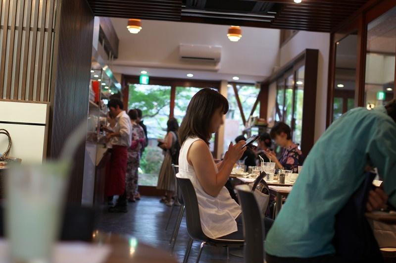 嵐山 よーじやカフェ 店内