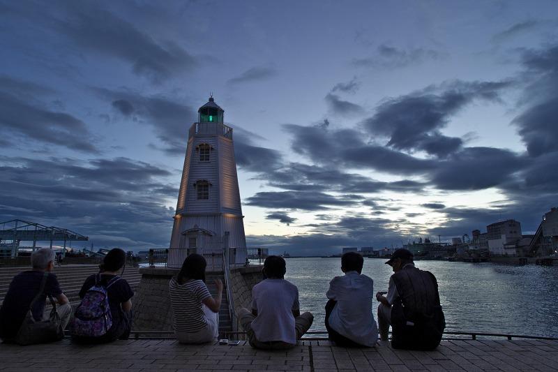 旧堺燈台 期間限定ライトアップ2015