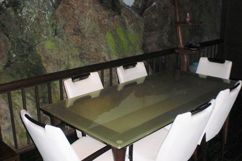 音羽山荘 部屋の横の休憩所