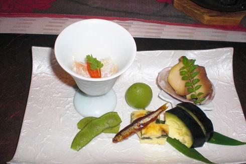 音羽山荘 夕食1