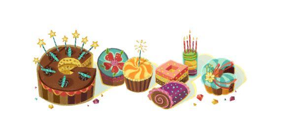 お誕生日のグーグル