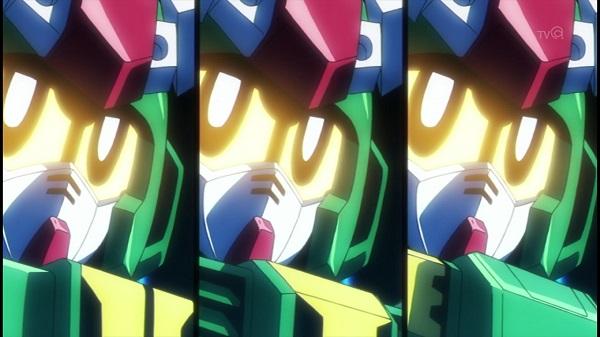 ガンプラアニメ ガンダムビルドファイターズトライ 全国大会 カミキ・セカイ ギャン子 ガンプラ学園 SDガンダム