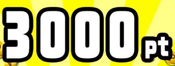 3,000pt