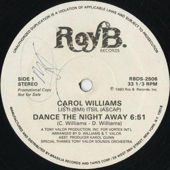 DG_CAROL WILLIAMS_DANCE THE NIGHT AWAY_201501