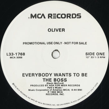 DG_OLIVER_EVERYBODY WANTS TO BE THE BOSS_201501