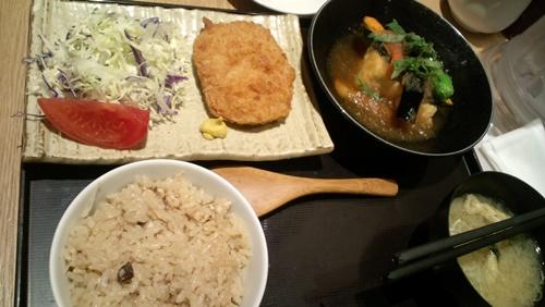 揚げもの&豆富おろしあんかけ二種盛り定食