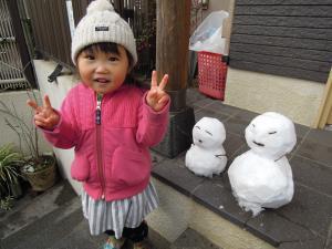 正月雪だるま